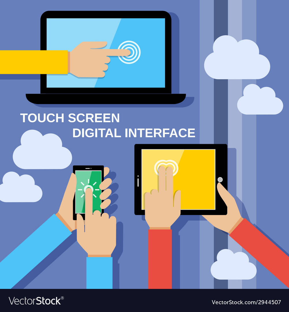 Touch screen gadgets vector