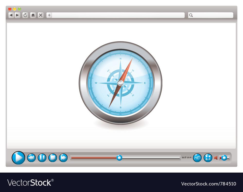Internet web browser concept vector