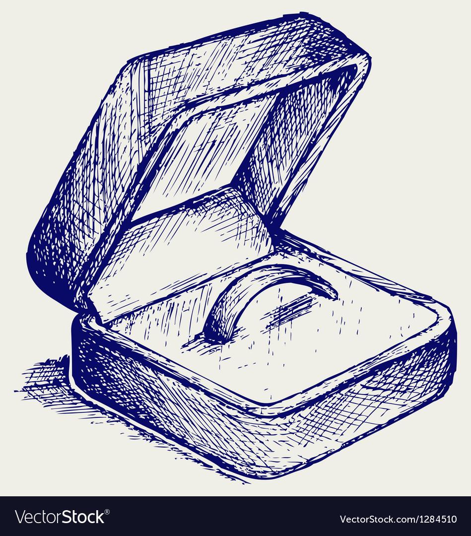 Jewelry box vector