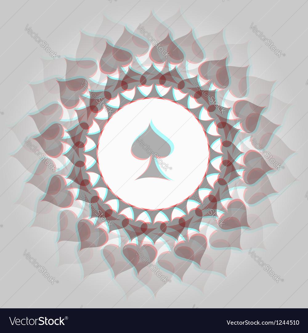 Spades 3d background vector
