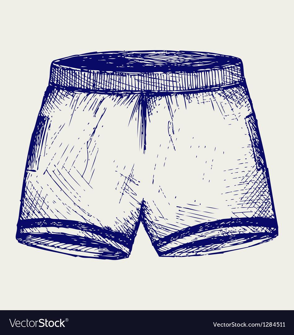 Swimming trunks vector