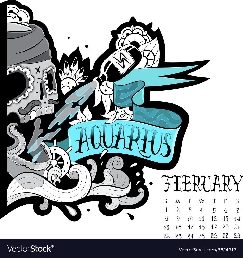 Aquarius tattoo vector