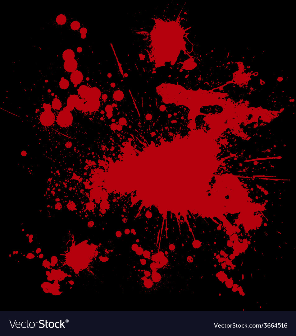 Blood drip and blood splatters 2 vector