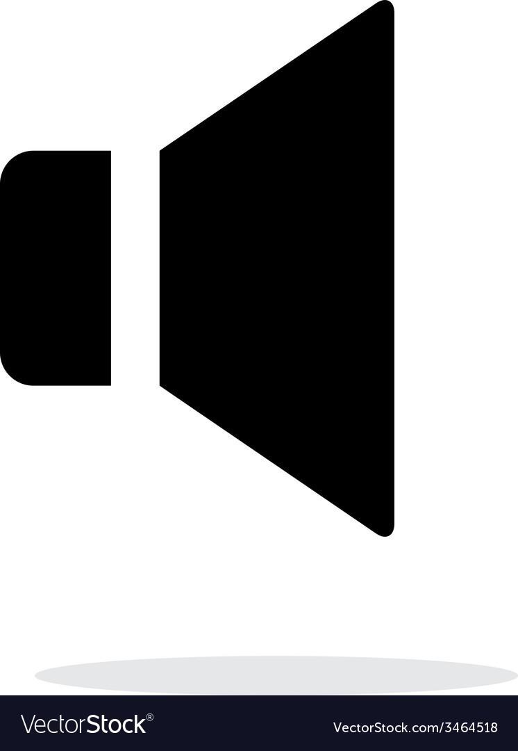 Speaker icon on white background vector