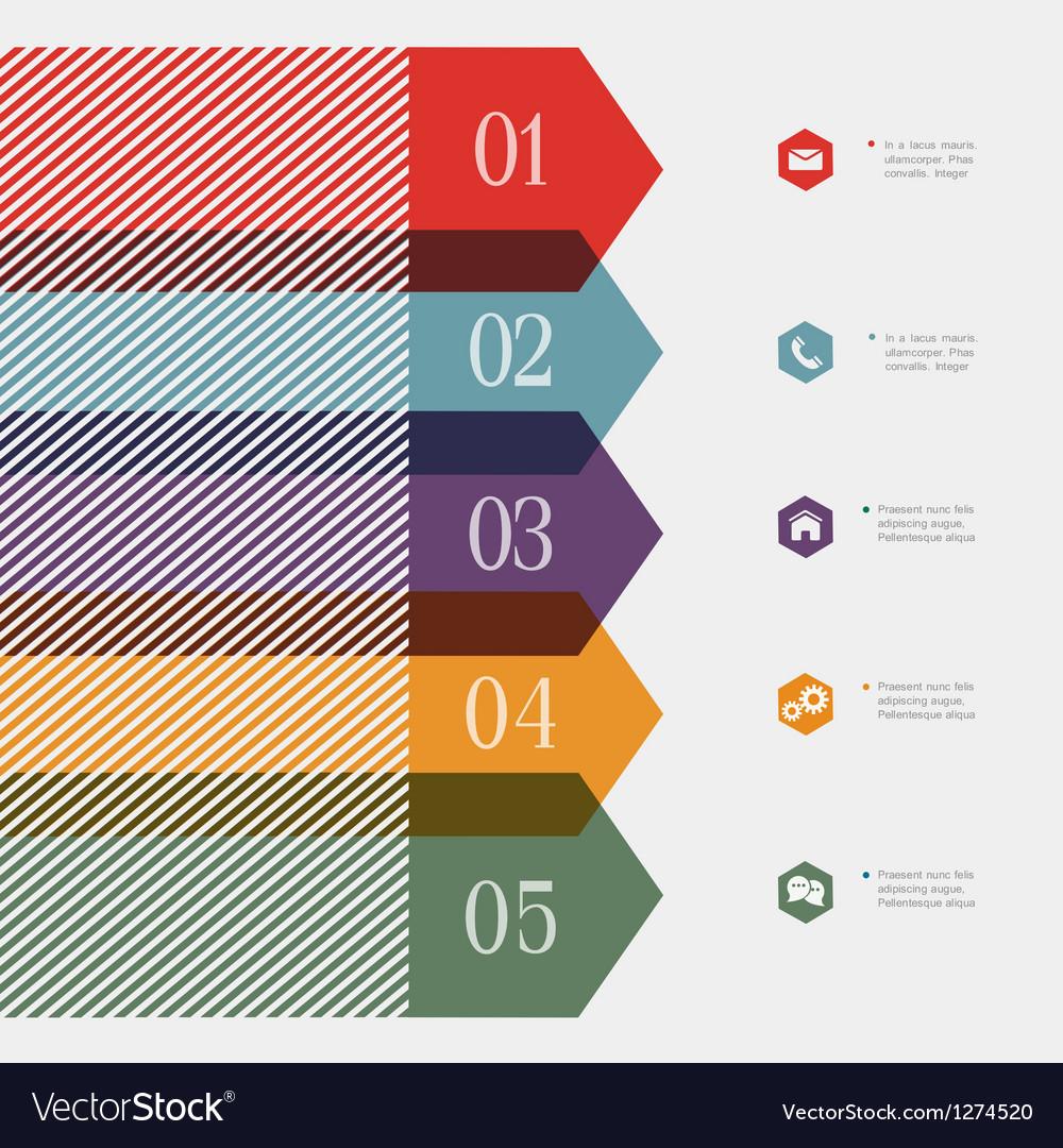Creative banner arrow design for infographics vector