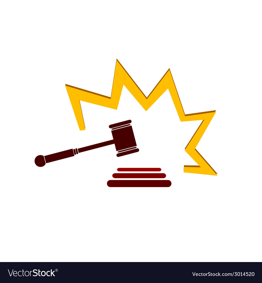 Hammer court in color art vector