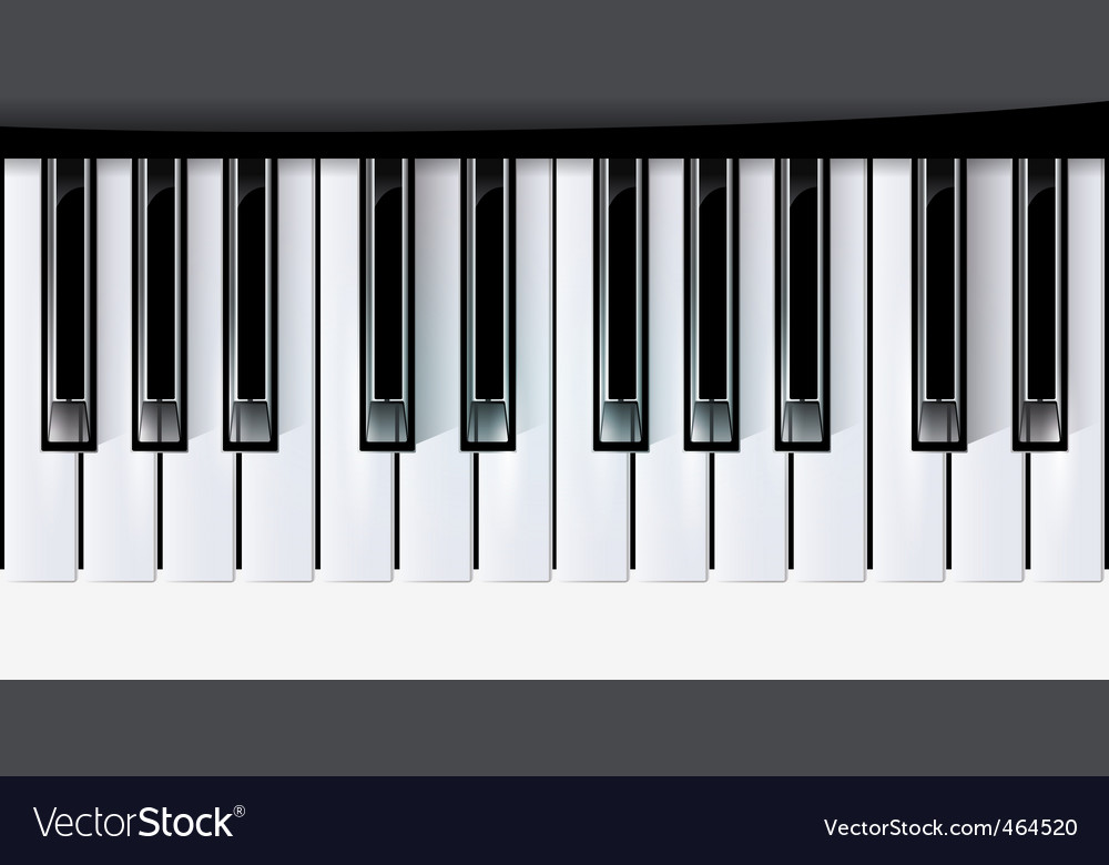 keys piano music vector