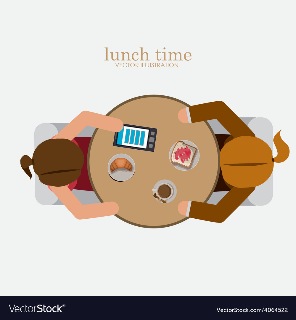 Lunch time desing vector