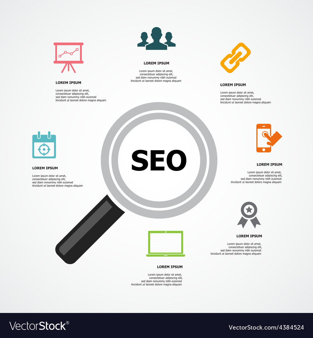 Infographic seo background vector