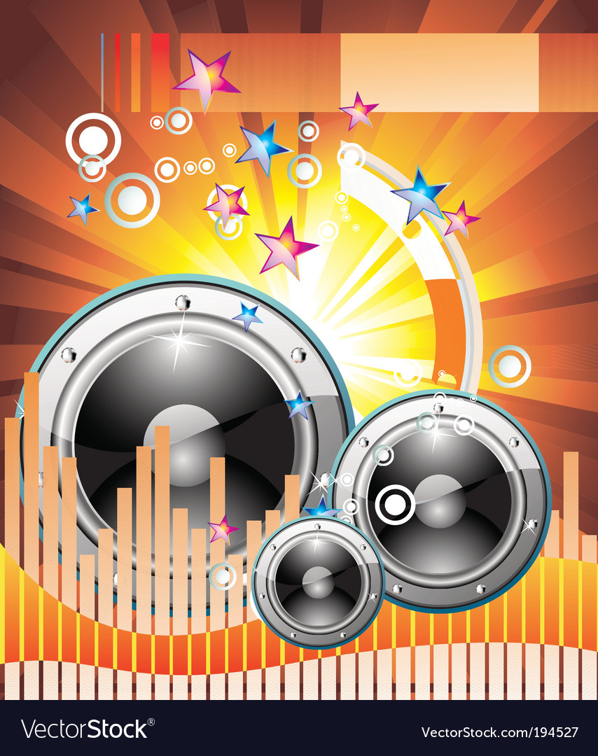Music equalizer background vector