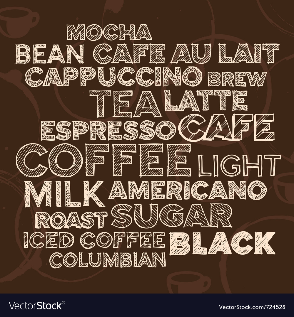 Coffee text design vector
