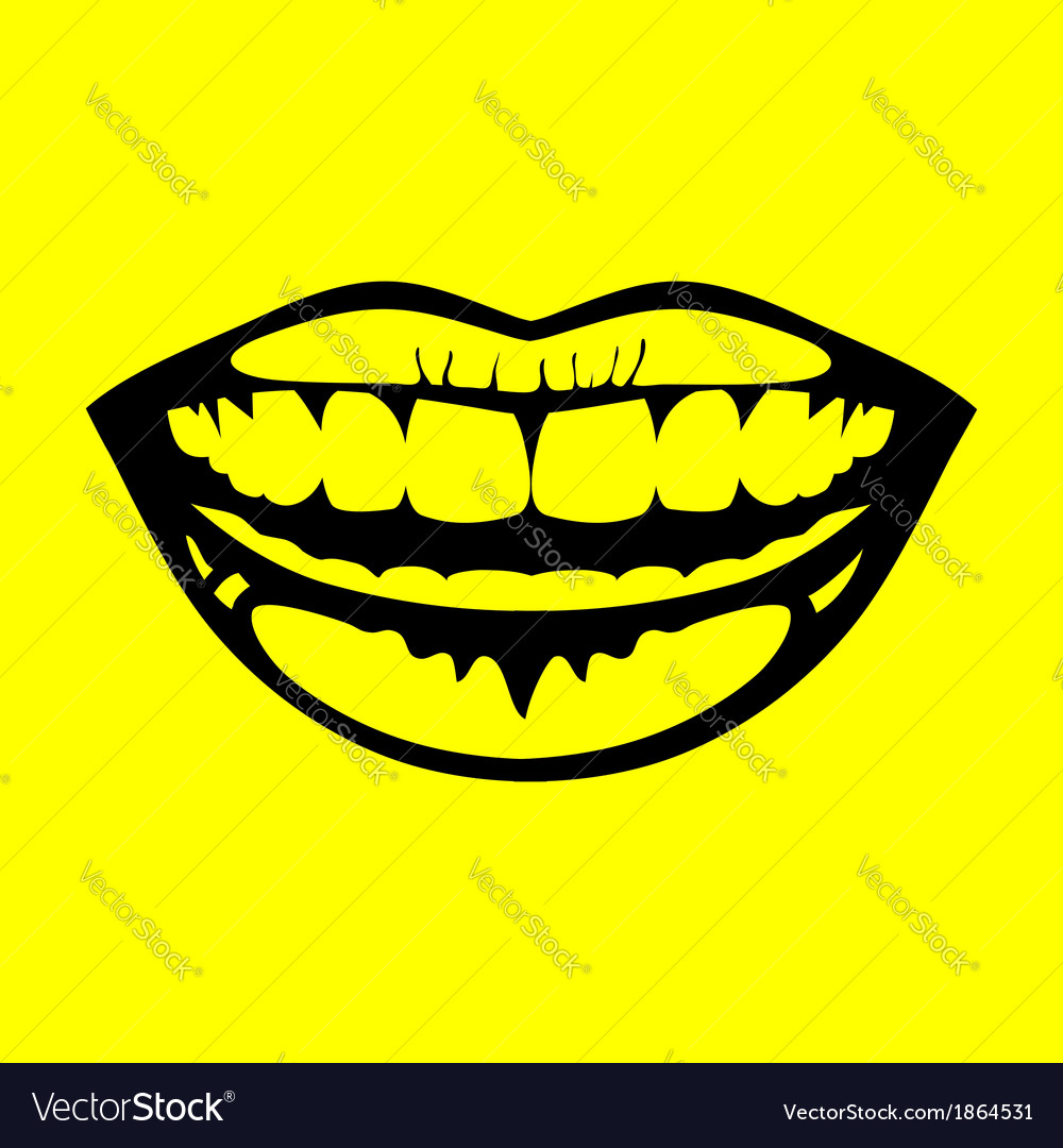 Icon smile vector