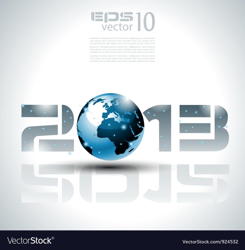 Futuristic 2013 background vector