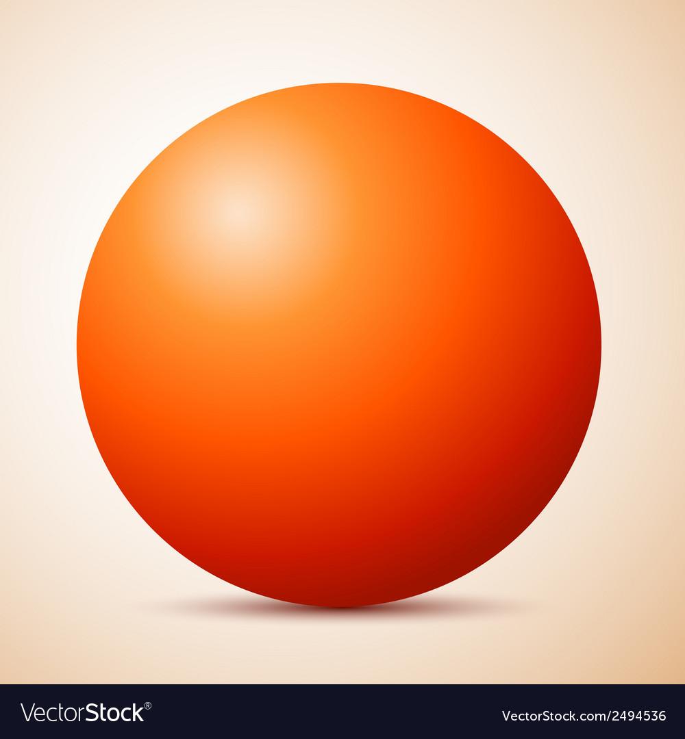 Big red ball abstract vector