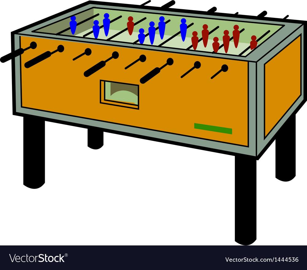 Foosball table vector