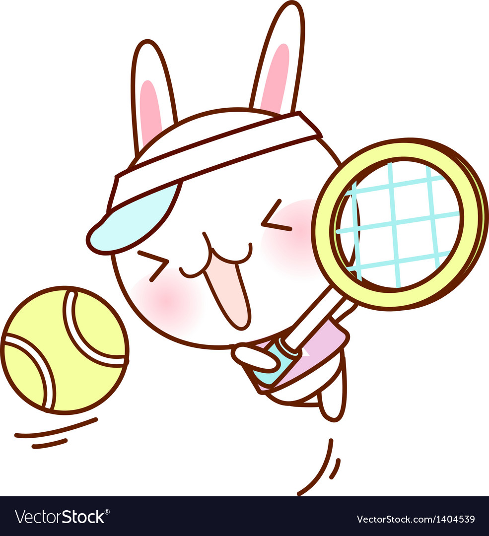 A playing tennis vector