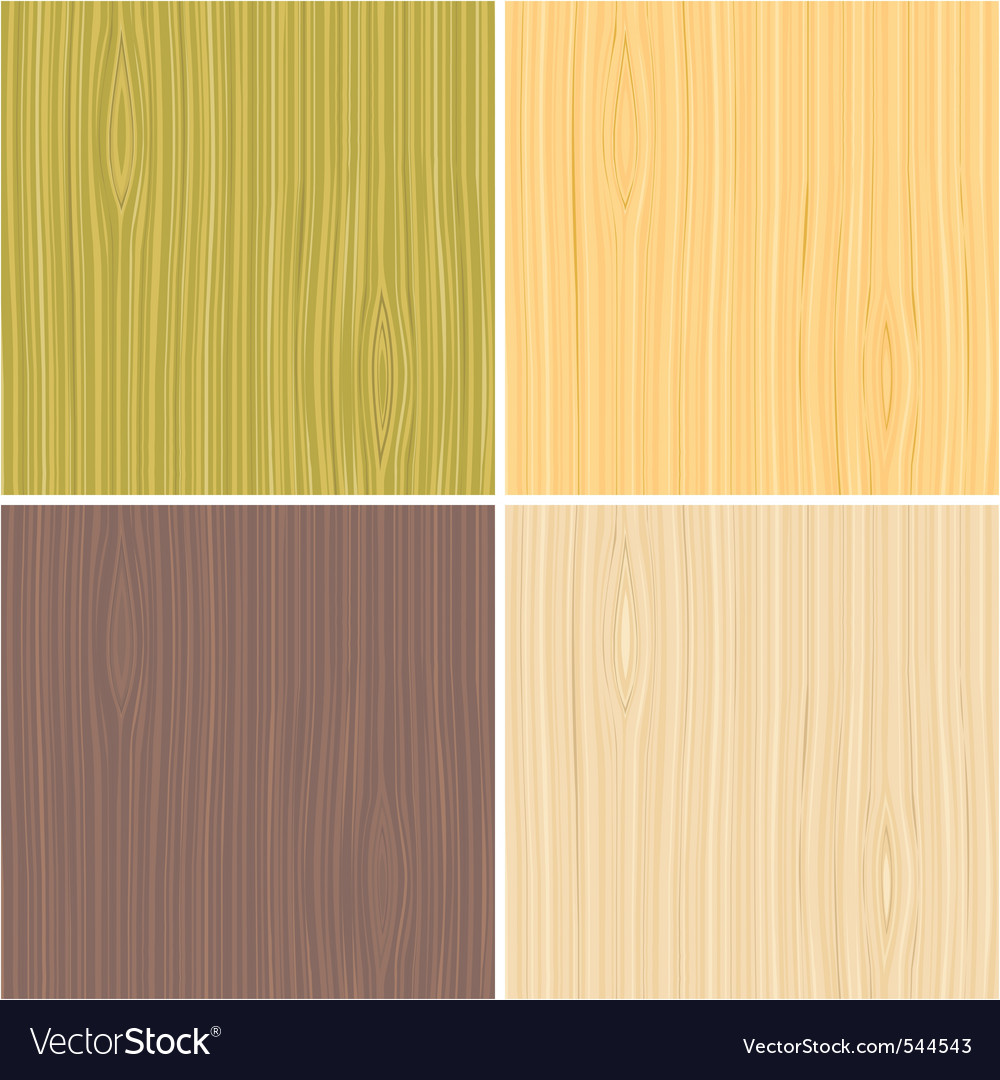 A set of wooden texture vector