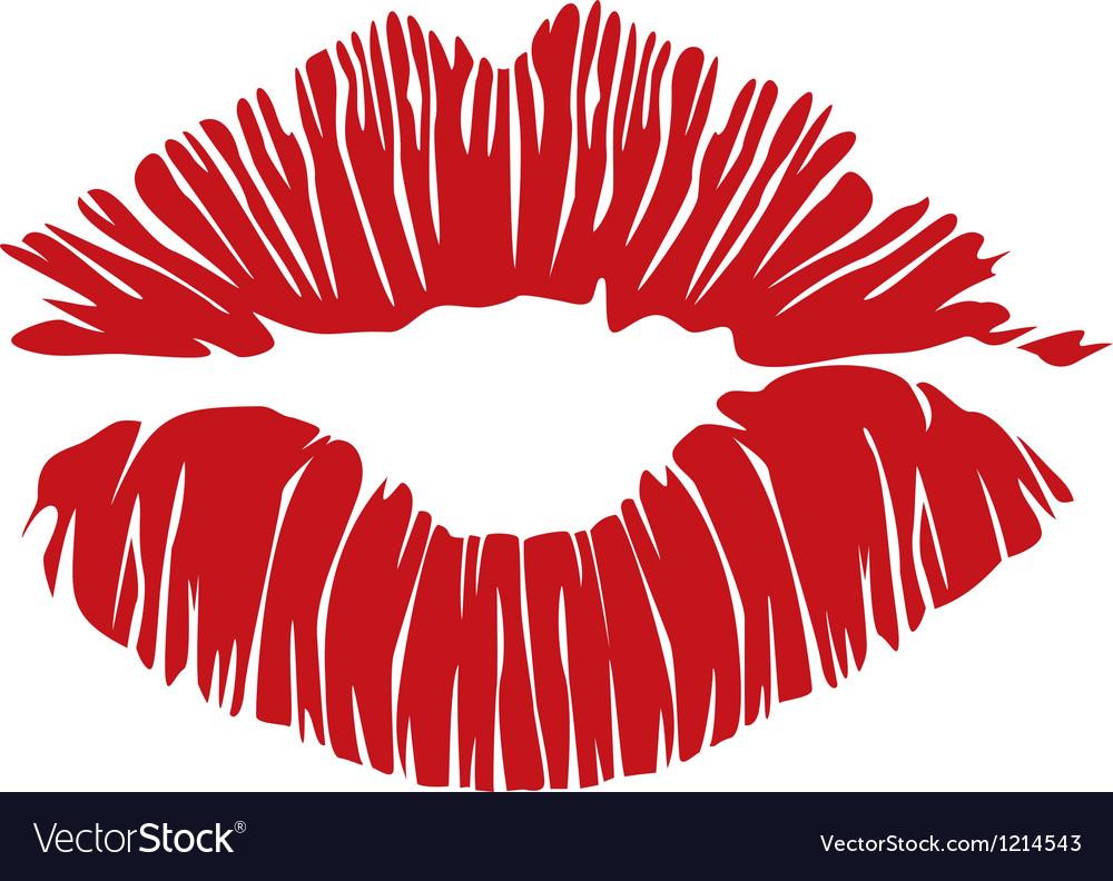 Kiss lips vector