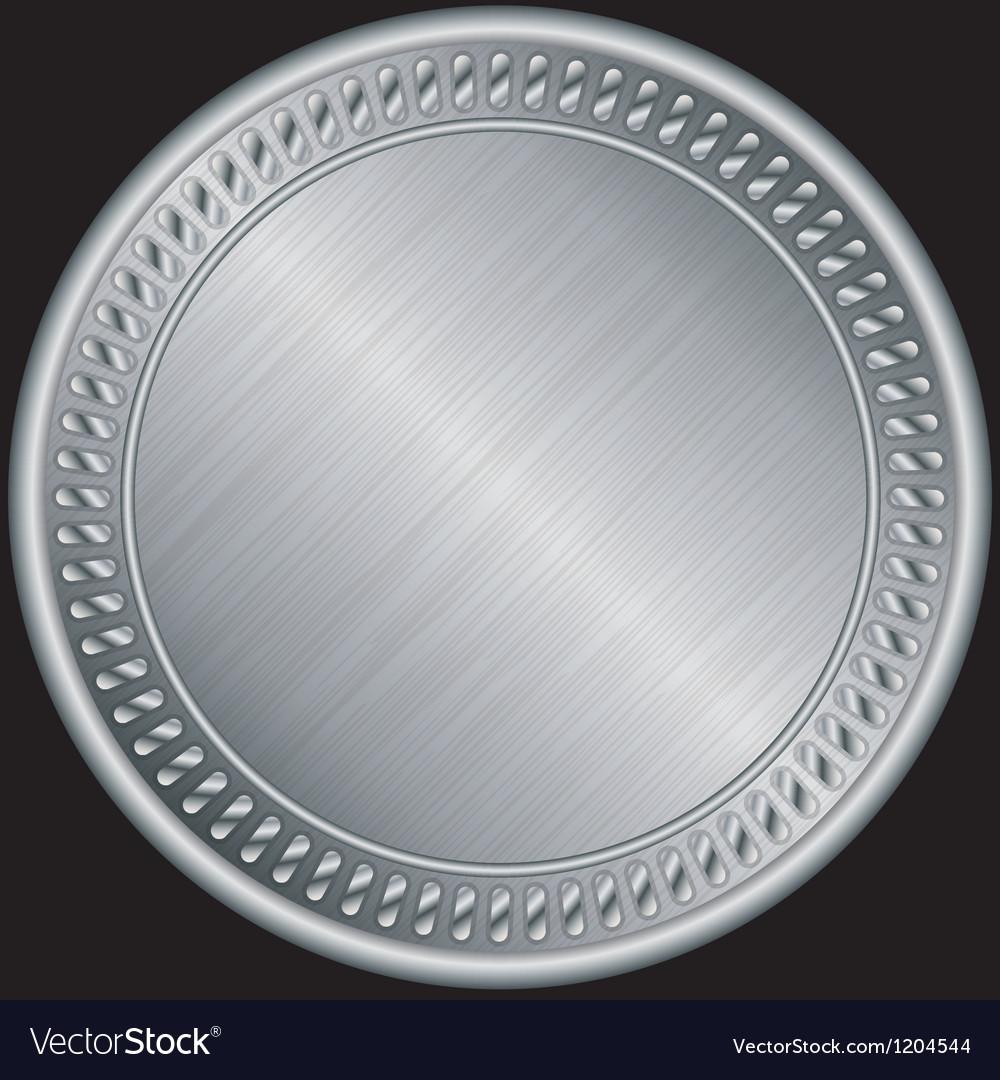 Silver blank medal vector