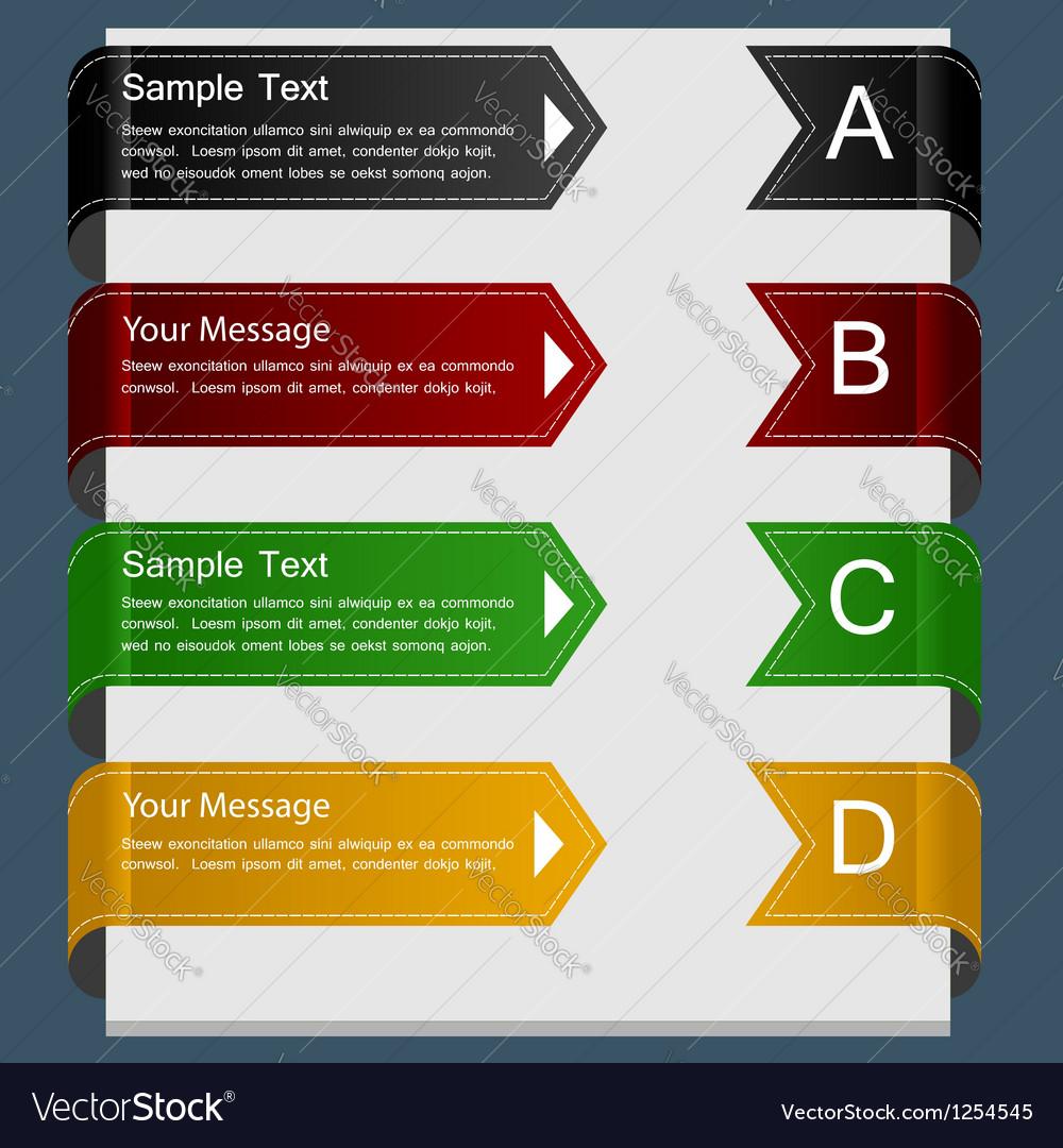 Color ribbon design template vector