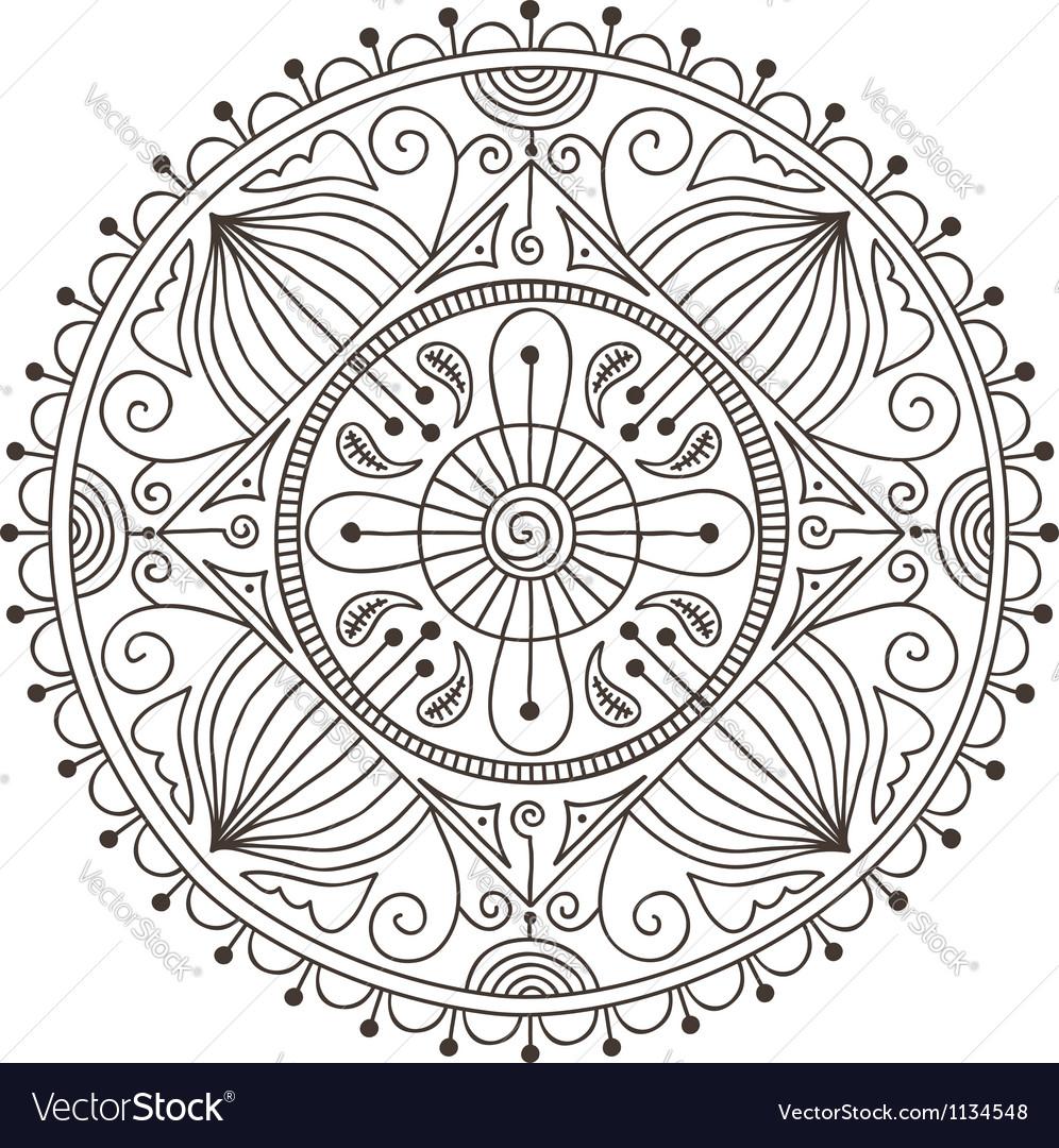 Mandala doodle vector