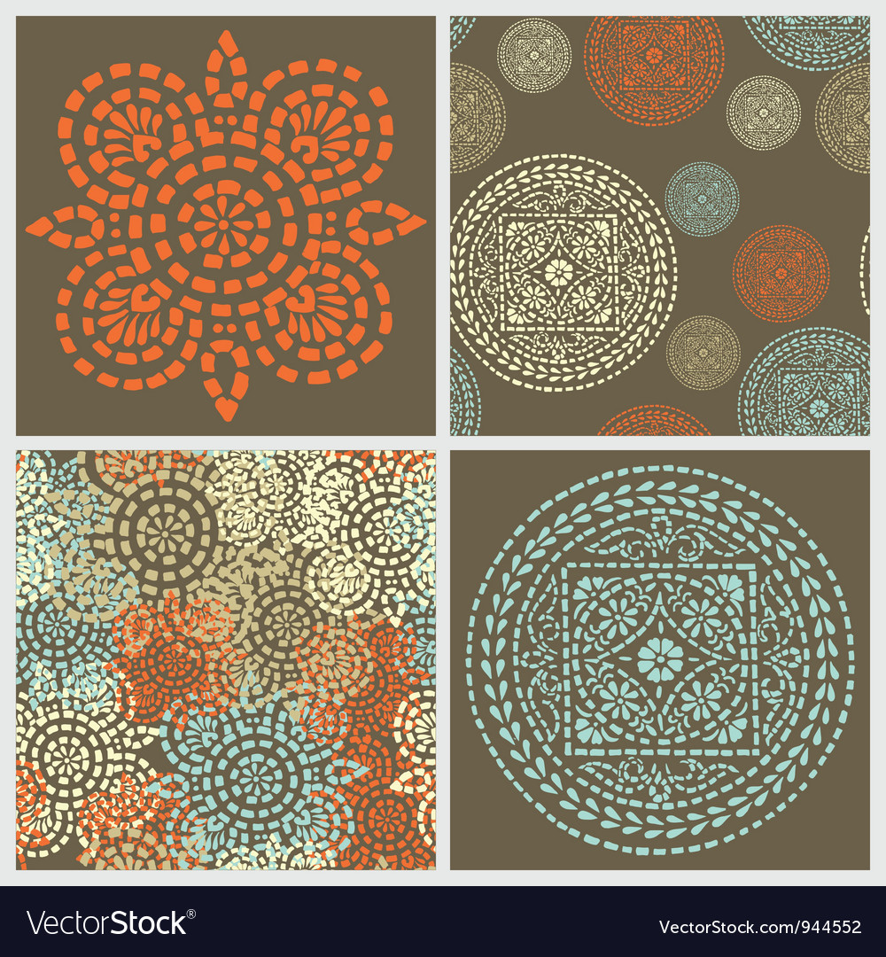 Decorative backgrounds vector