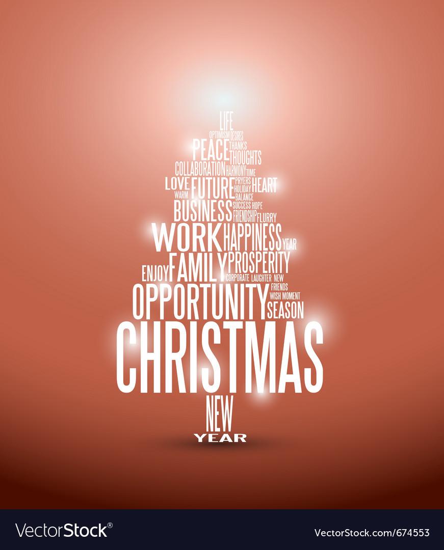 Christmas tree typography vector
