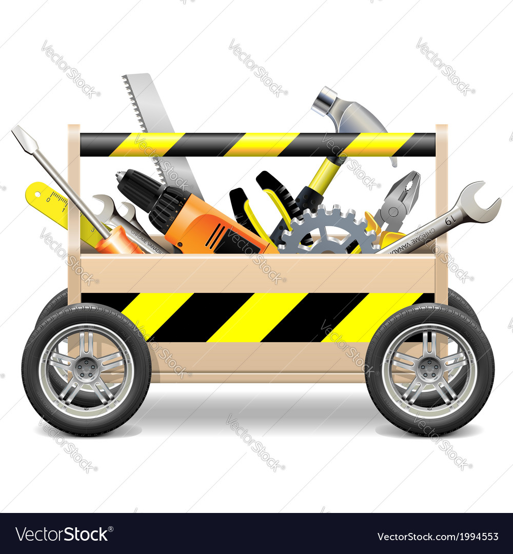 Mobile toolbox vector