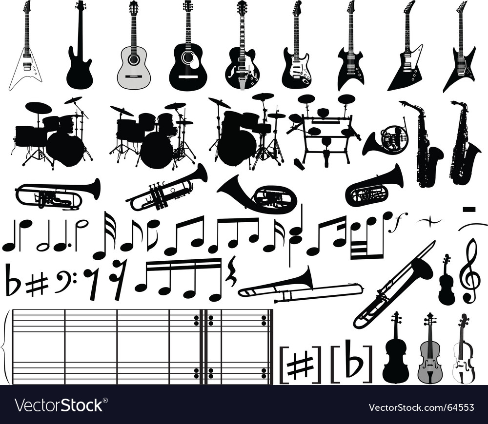 Musical elements vector
