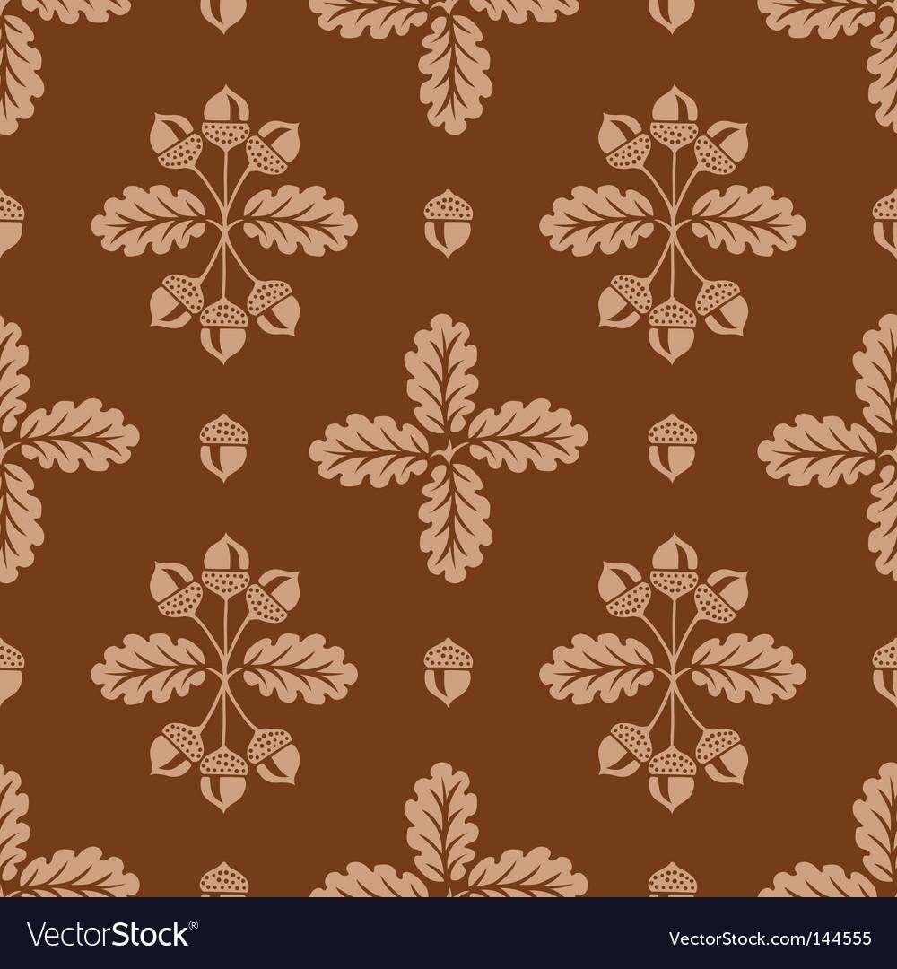 Acorn pattern vector