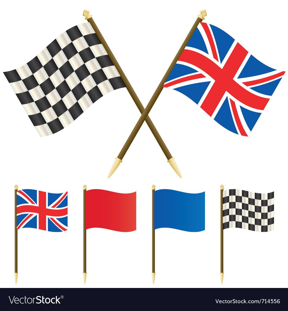 Winners flags vector