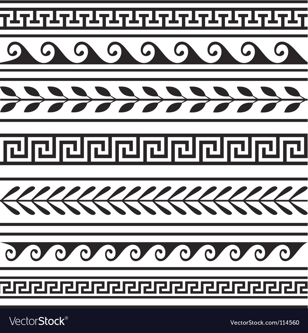 Set of geometric borders vector