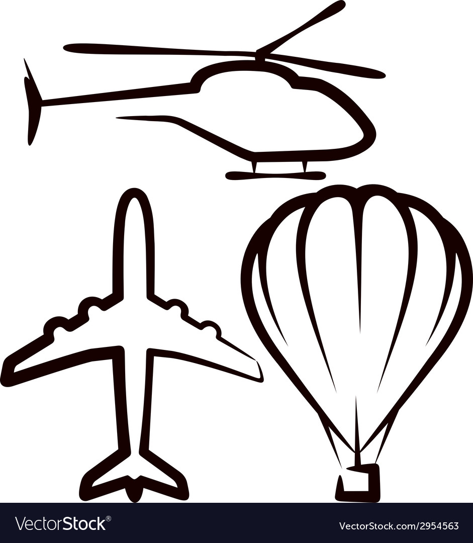Simple with air transport vector