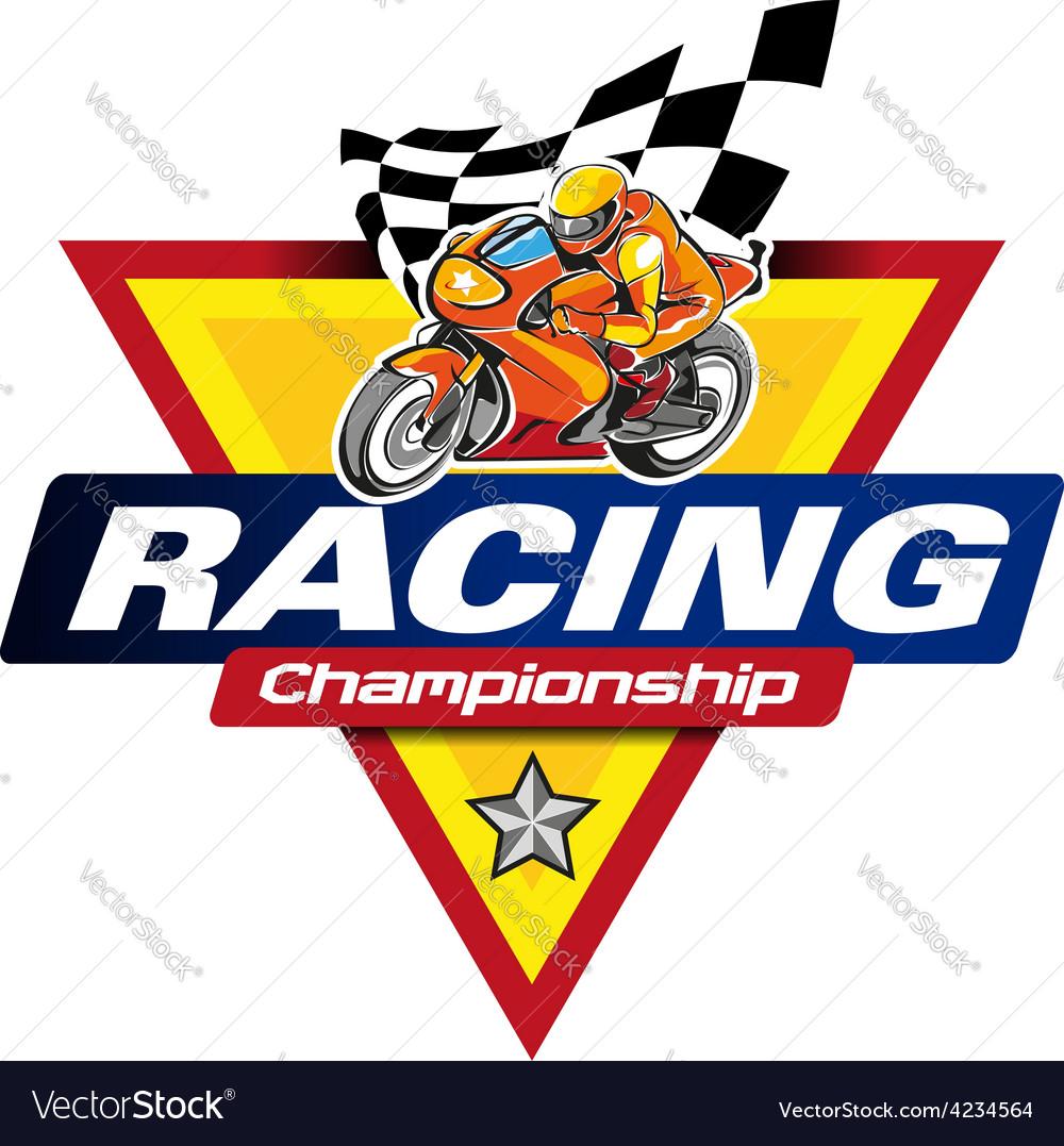 Racing icon vector