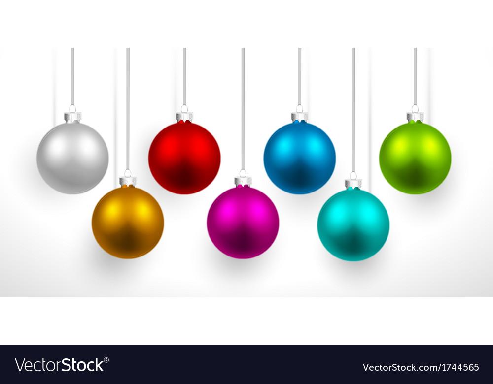 Christmas colored balls vector