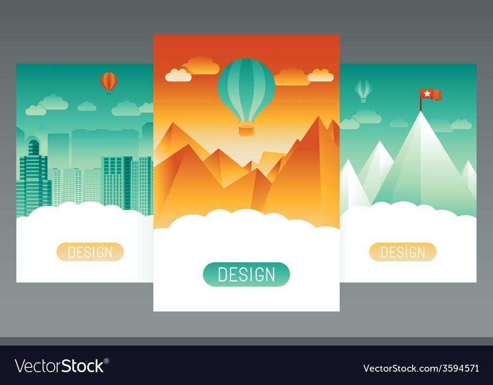 Abstract splash screens vector