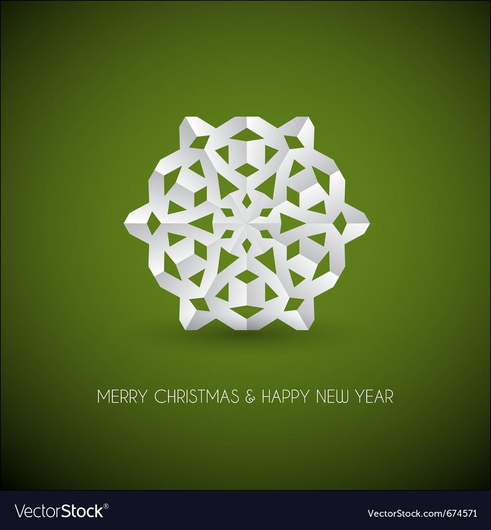 Christmas snowflake vector