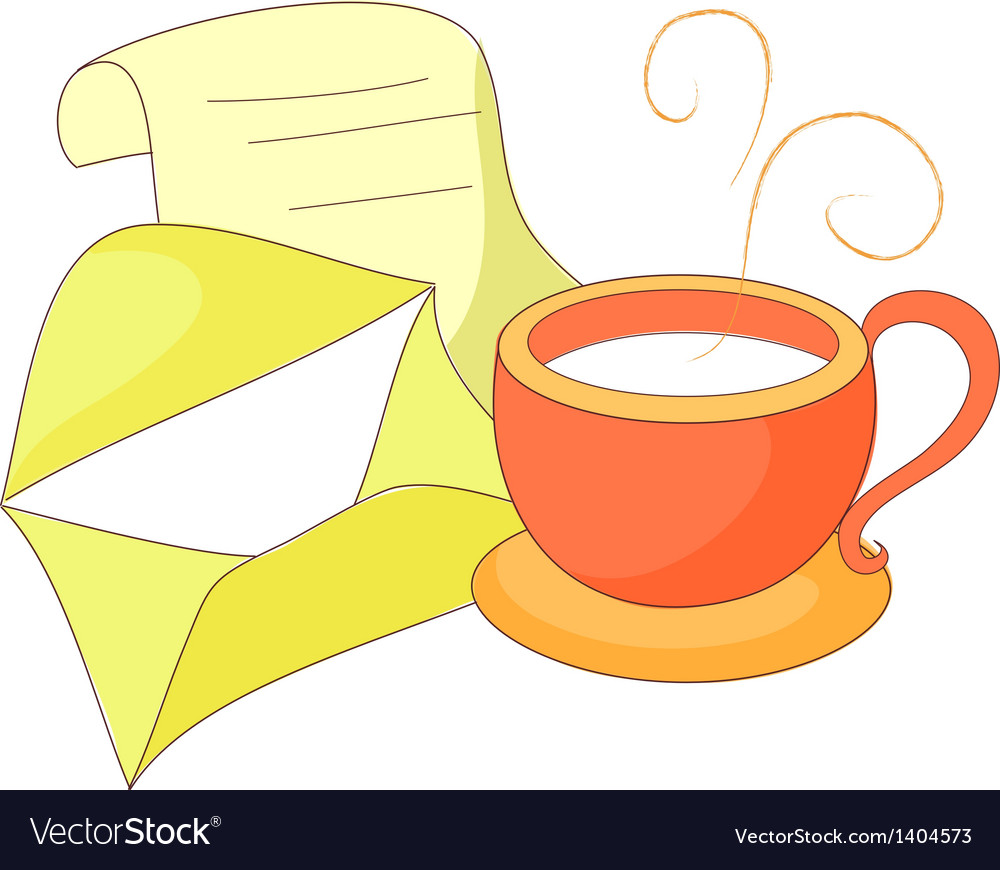 A letter with cup vector