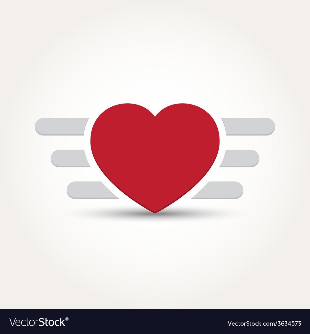 Iron love heart vector