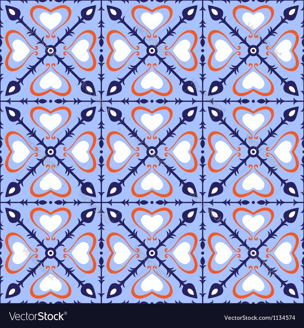 Seamless arabic tiles vector
