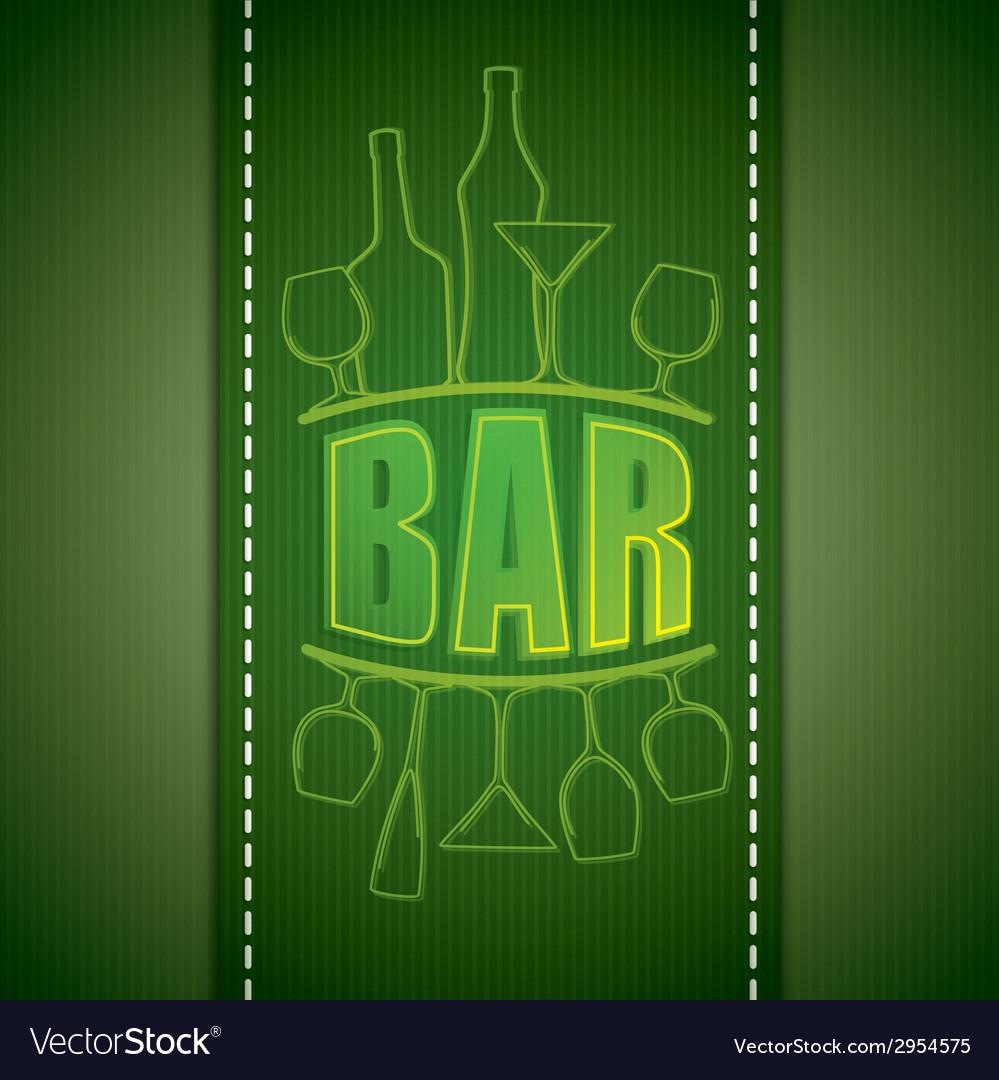 Bar list design vector