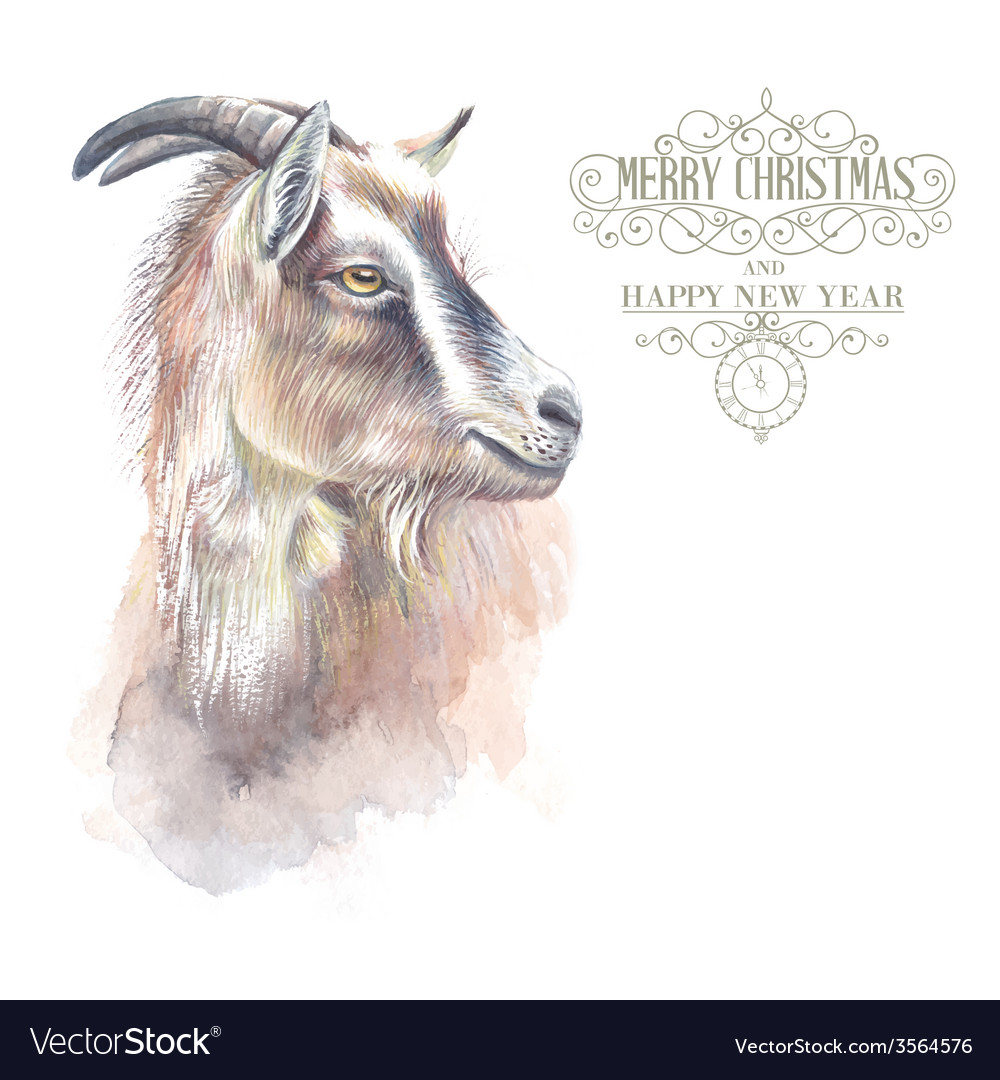 New year goat vector