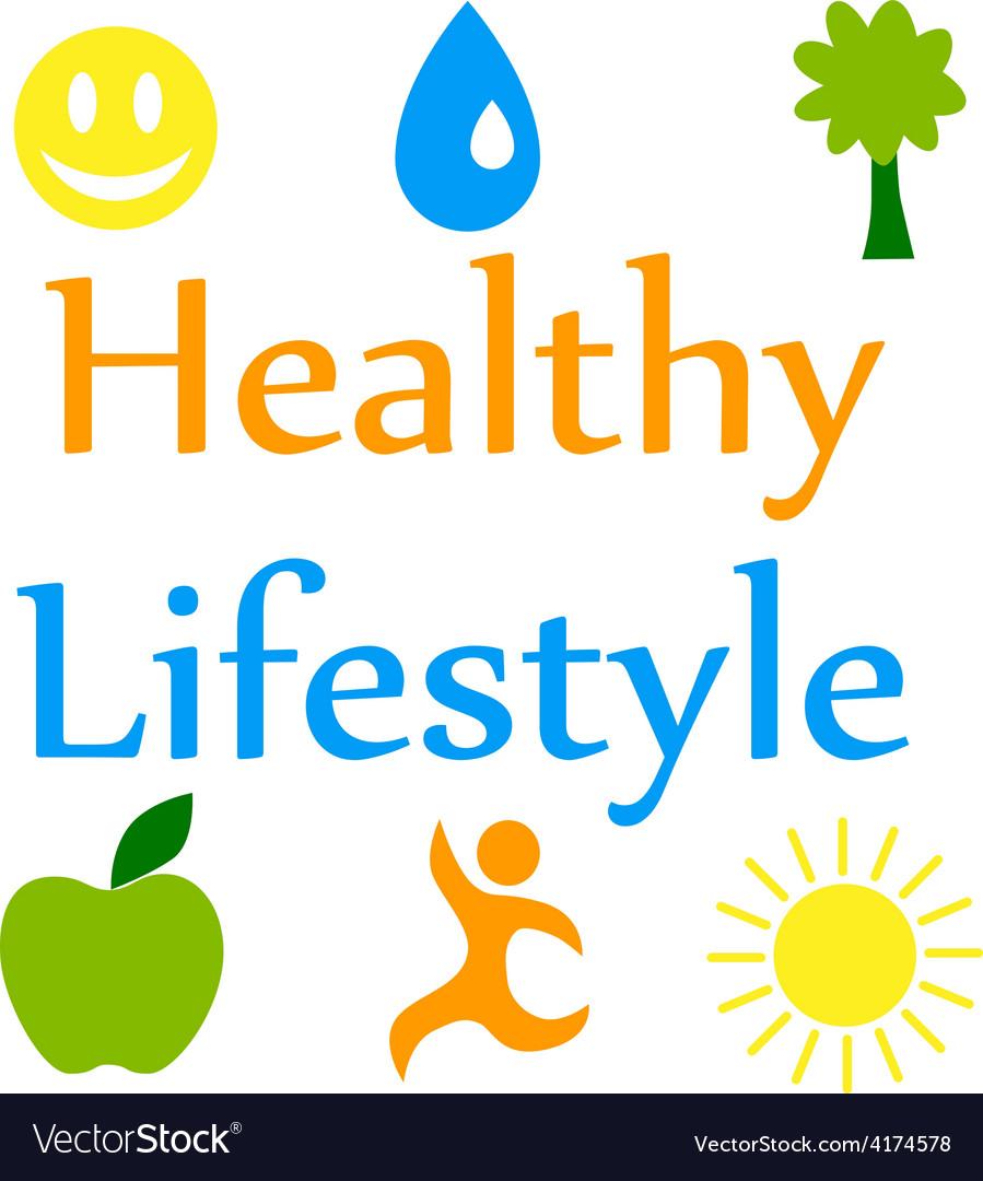 Healthy lifestyle 2 vector