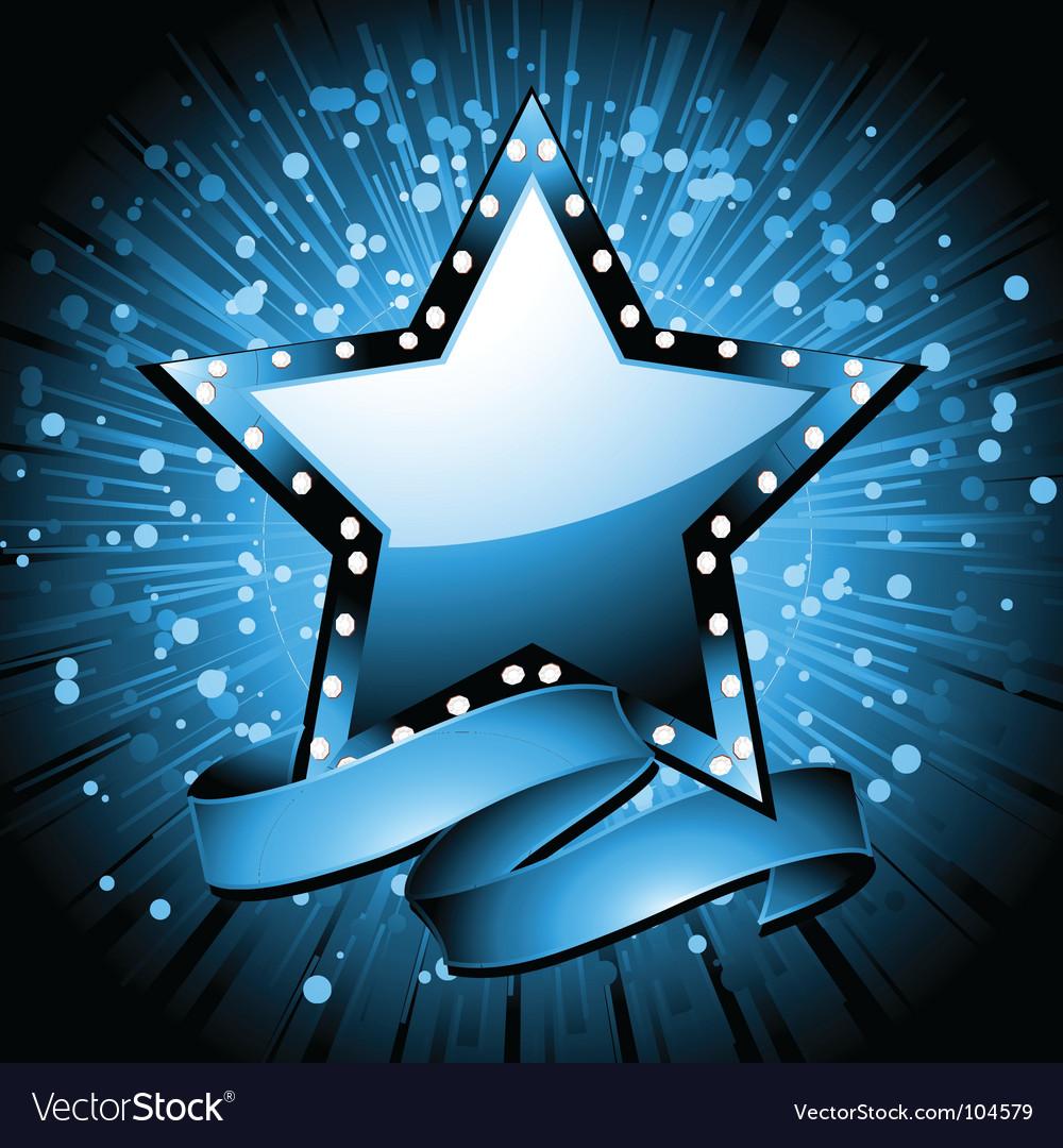 Christmas superstar background vector