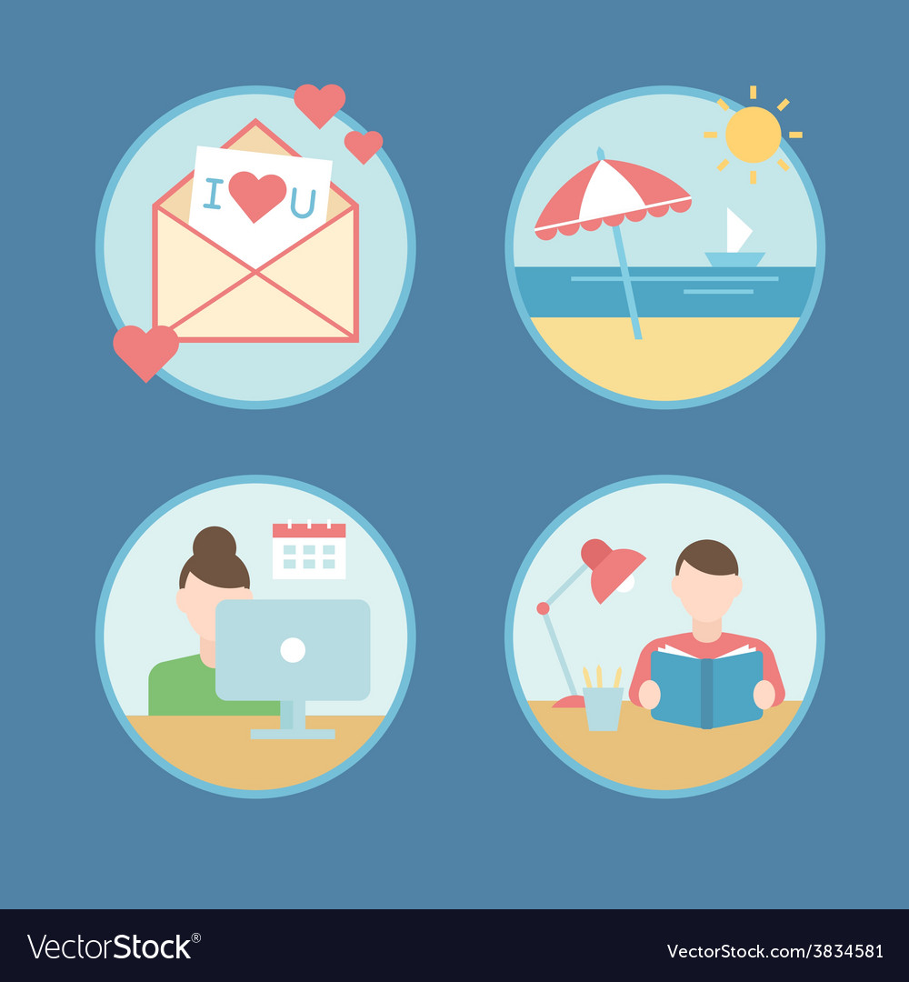Summer vacation plan abstract background vector