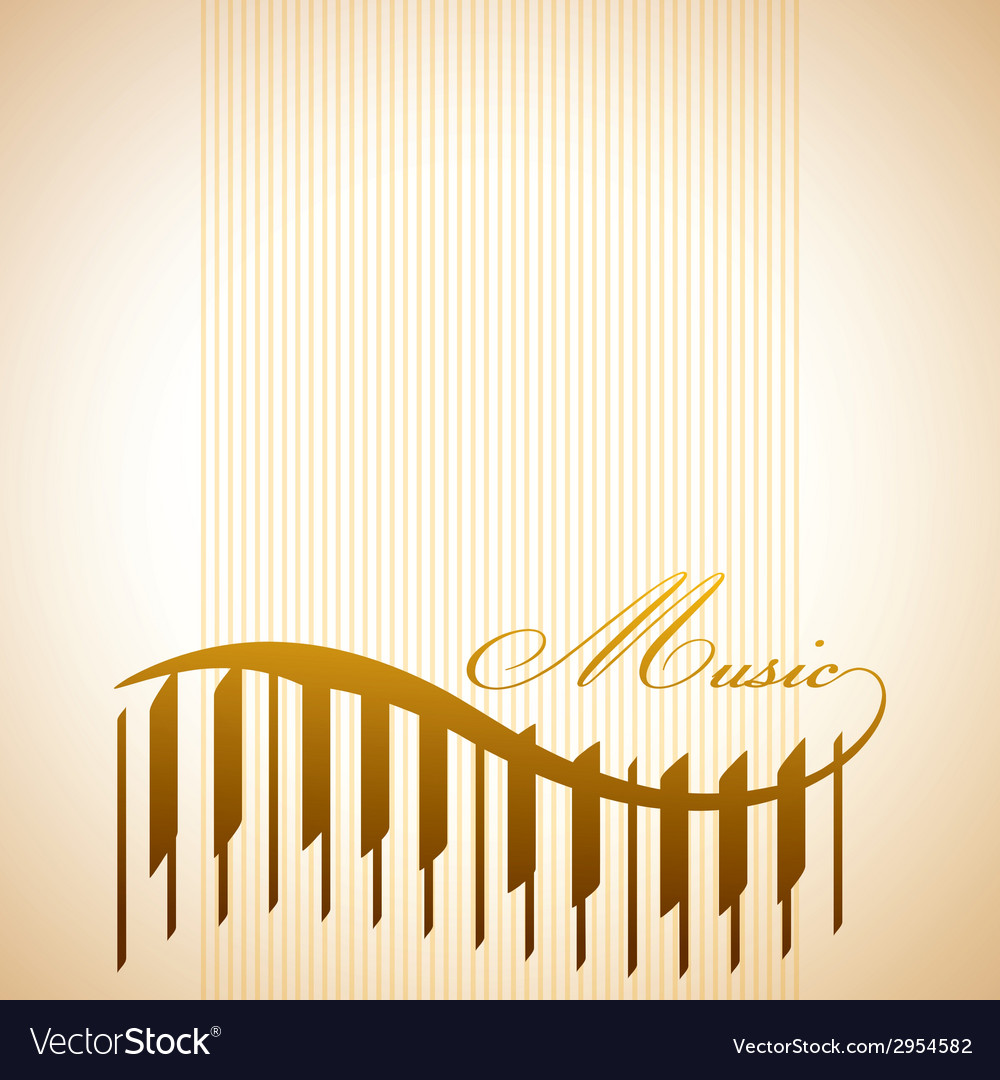 Abstract background with piano vector
