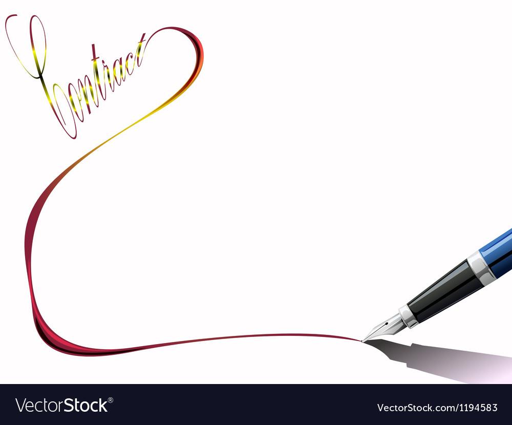 Pen writing vector
