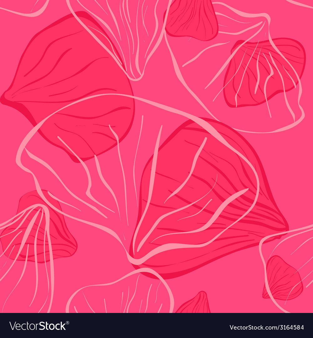 Pink seamles with flower petal vector