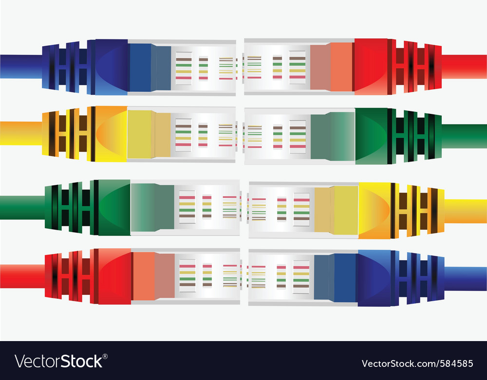Internet cables vector