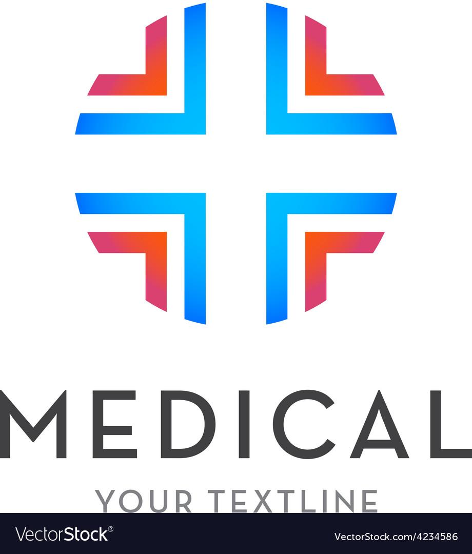 Medical logo - cross isolated vector